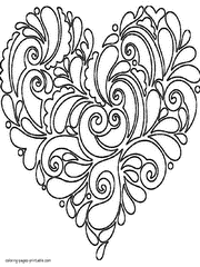 Hearts Coloring Pages Beautiful Printable