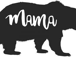 Black Bear Clipart Momma 12