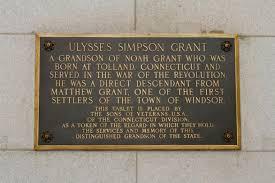 The Ulysses S Grant Memorial Tablet
