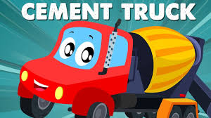 Cement Mixer Truck | Little Red Car | Car Cartoons And Videos For ...