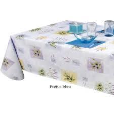 nappe toile ciree au metre nappe en toile cirée bleuté thème de provence classique indémodable