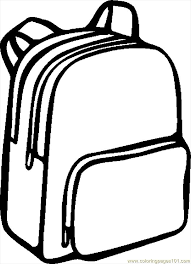 school bag clipart black and white 2