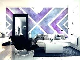 Purple Accent Wall Bedroom In Best