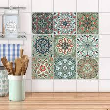fliesenaufkleber set für küche bad design marokkanische fliesen riad