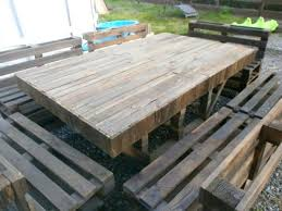 Pallet Garden Table Massive Outdoor Set Made With Pallets In Furniture