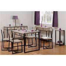 Warwick Dining Set - Oak Effect And Metal Dining Table & 4 Chairs Kings Brand Fniture 3 Piece Bronze Metal Square Ding Kitchen Dinette Set Table 2 Chairs Elixir 80in Rectangular With Base By Hooker At Dunk Bright Costway 5 4 Wood Breakfast Chic Gray Room With Rustic And Vintage Louis Pair Of Silver Velvet Mirrored Legs Vida Living Tempo Glass C1860p Industrial Round Lifestyle Sam Levitz Fixer Upper A Contemporary Update For A Family Sized House Hot Item Cheap Leg Chair Vecelo Sets Pcs Embossed White Montello 3piece Old Steel