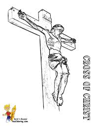 Easter Coloringpage Crucifixion Of Jesus At YesColoring