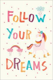 premium poster folge deinen träumen englisch