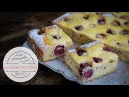 kirsch quark kuchen mit frischen kirschen mega lecker