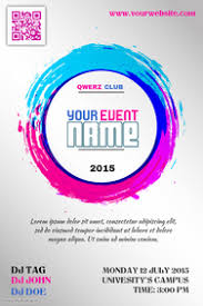 Colorful Event Promotion Poster Template