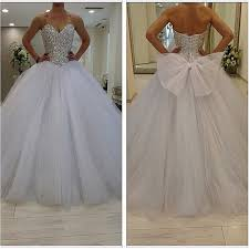 2016 Sparkly Ball Gown Wedding Dresses Plus Size Puffy Tulle Skirt