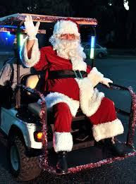 100 Fire Truck Golf Cart Santa Arrives By Golf Cart In Port Royal Beaufort South Carolina