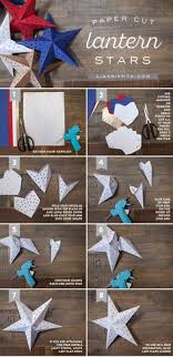 Free Downloadable Printable Template Paper Star Lights Garland For Use With String