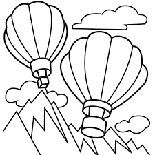 Free Hot Air Balloon Coloring Pages For Kids