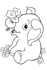 Beautiful Elephant In The Jungle Coloring Pages Page Head Elephants Print Printable Full Size