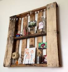 Diy Pallet Wall Shelves Litro Info Intended For Made From