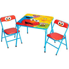 Walmart Outdoor Folding Table And Chairs by Sesame Street Activity Table And Chairs Set Walmart Com
