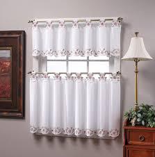 amazon com today s curtain capri reverse embroidery 14 inch tab