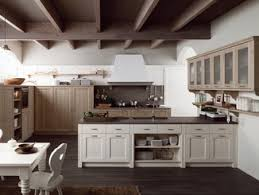 Rustic Style Kitchen With Peninsula TABIA T01