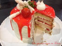 layer cake aux fraises les gourmandises de némo
