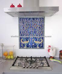 Jaipur Blue Pottery Tiles Mural For Kitchen Decor