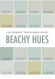 Popular Living Room Colors Benjamin Moore by The Best Beachy Paint Colors Picked By The Interior Designers At