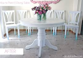 Painted Table And Chairs Chalk Paint Dining Room Square Kitchen