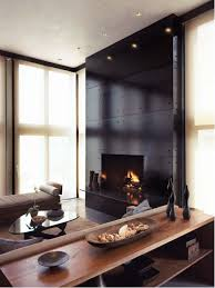 Minimalist Living Room Photo In New York With A Standard Fireplace