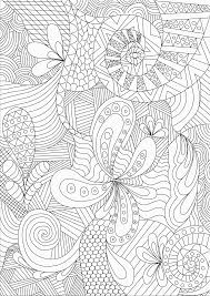 Printable Coloring Pages Zentangle Free