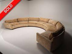 milo baughman for thayer coggin semi circular sectional sofa mid