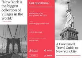 New York Brochures Travel Brochure Templates Canva Printable