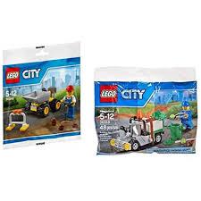 100 Lego City Tanker Truck LEGO Worker Bundle Dump And Garbage Tanga