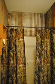 Camo Bathroom Decor Ideas by Recycled Barn Tin Shower Wall Irishman Acres Our Home At