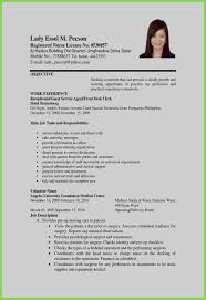 Unique Resume Objective Philippines Hr Lovely New Pdf Beautiful Examples Best