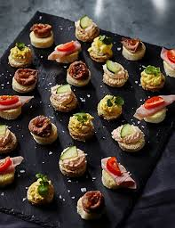 m and s canapes 24 mini topped canapé platter m s