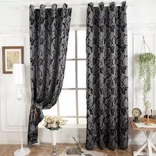 dunkelgrau jalousien fenster behandlungen halb blackout 3d vorhänge für wohnzimmer moderne vorhangstoffe fertige vorhang