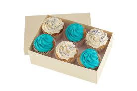 Baby Blue Cupcakes x 6