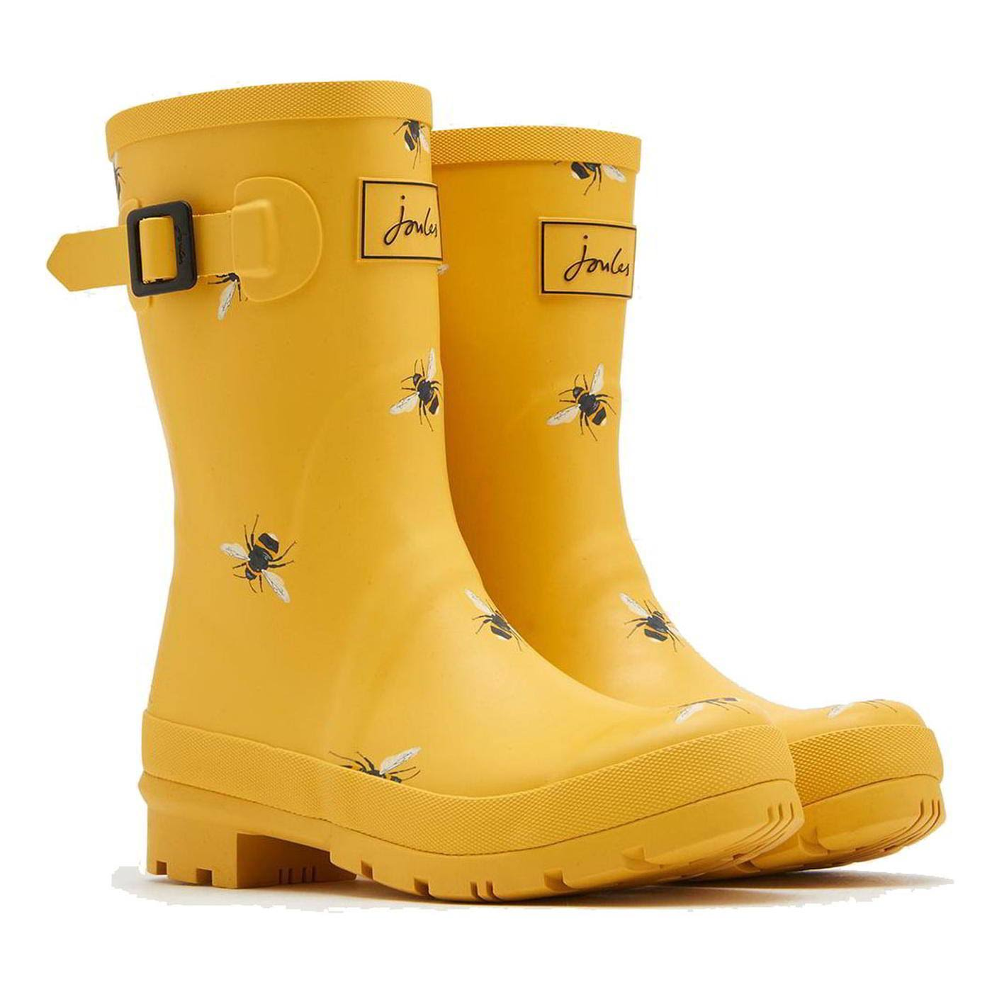 Joules Women's Molly Rain Boot - Yellow, 9 US