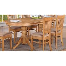 East West Furniture VT OAK T Vancouver Oval Double Pedestal Dining Room Table With