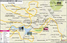 Tourist Map Of Ooty