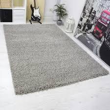 moderner hochflor shaggy teppich uni farben schwarz grau rot lila grün creme braun