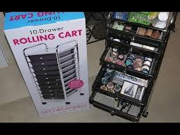 Seville 10 Drawer Rolling Multi Purpose Cart Makeup Organizer