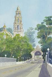 Balboa Park Halloween Activities by Museum Of Man Balboa Park Painting By Mary Helmreich