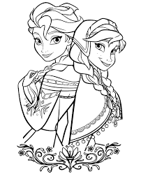 Coloring Pages Elsa And Free Printable Vs