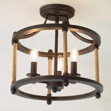 Farmhouse Semi Flush Light Fanciful Ceiling Lights Rustic Wooden Designs Shades Of Home Interior 10