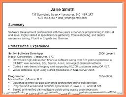 Summary Examples For Resumes Example Resume Luxury Qualifications