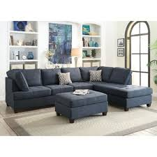 Wayfair Leather Sectional Sofa by Blue Denim Sectional Sofa Wayfair