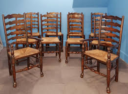 Set Of Ten Ladderback Rush Seated Dining Chairs C.1880 ... 6 Ladder Back Chairs In Great Boughton For 9000 Sale Birch Ladder Back Rush Seated Rocking Chair Antiques Atlas Childs Highchair Ladderback Childs Highchair Machine Age New Englands Largest Selection Of Mid20th French Country Style Seat Side By Hickory Amina Arm Weathered Oak Lot 67 Set Of Eight Lancashire Ladderback Chairs Jonathan Charles Ding Room Dark With Qj494218sctdo Walter E Smithe Fniture Design A 19th Century Walnut High Chair With A Stickley Rush Weave Cape Ann Vintage Green Painted