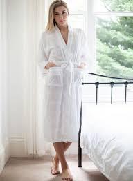robe de chambre luxe robe de chambre blanche kimono de cottonreal modèle nakai chez