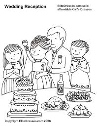 Wedding Reception Coloring Page